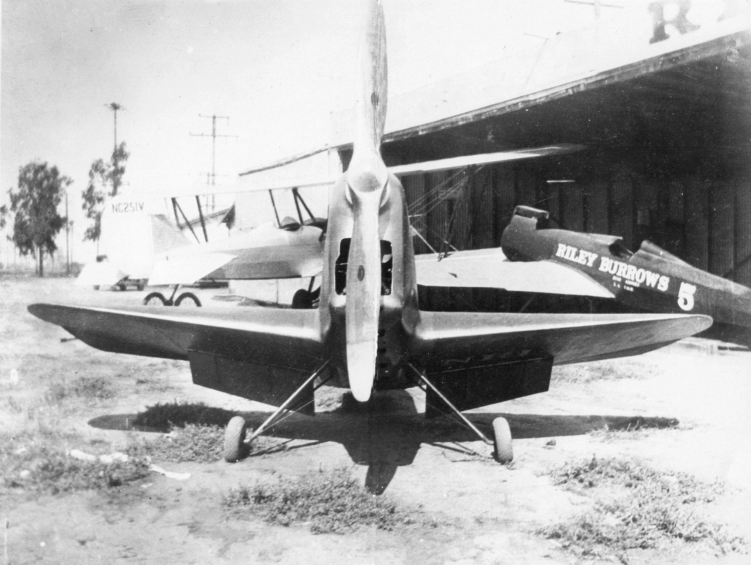 1934 Burrows R-5, NR214Y 120 hp Martin 333, four cylinder inverted